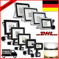 LED Fluter mit Bewegungsmelder/Stecker 10-100W SMD Außen Scheinwerfer IP65 HOT