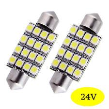 2 ampoules à LED  41 mm 16 LED  pour camion poids lourds  Volvo 24 Volts