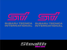 Subaru impreza STI fog lamp stickers/ decals x2 Premium Quality Magenta/ silver