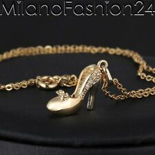 HIGH HEELS Necklace Pendant Shoe 18 K Gold plated Ladies Jewellery chain new