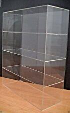 "Acrylic Counter top Display Case 16"" x 6"" x 19"" Show Case Cabinet Shelves"