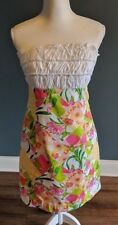 Lilly Pulitzer Strapless Dress Floral Youth Girls Size 10