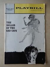 December 9th, 1963 - Martin Beck Theatre Playbill - The Ballad Of The Sad Cafe