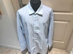 BROOKS BROTHERS LT BLUE NON-IRON EGYP COTT DRESS SHIRT 18.5-37/EXCELLENT