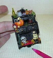Miniature Outrageous Halloween Shelf #1 Glittery:DOLLHOUSE Miniatures 1/12