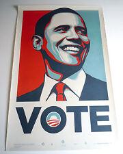 OBAMA VOTE NUMBERED SCREEN PRINT : OBEY : SHEPARD FAIREY : ANTI-TRUMP