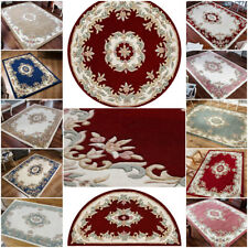 TRADITIONAL FLORAL PURE WOOL RUG IN SMALL EXTRA LARGE CIRCULAR ROUND HALF MOON