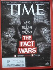 TIME MAGAZINE OCTOBER 15 2012 ROMNEY OBAMA WHO IS TELLING THE TRUTH?