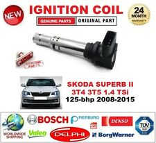 FOR SKODA SUPERB II 3T4 3T5 1.4 TSi 125-bhp 2008-2015 IGNITION COIL 4-PIN PLUG