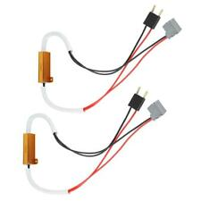 2x LED Headlight Load Resistor Decoder Anti-Flicker Flash Error Canceler For H7