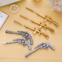 2x Novelty Gun Pens Stationery Pen Student Office Creative Ballpoint +Gel MAEK