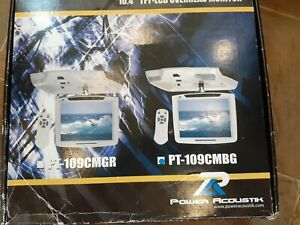 """POWER ACOUSTIK PT-109CMBG 10.4"""" LCD CEILING MOUNT CAR VIDEO MONITOR WITH REMOTE"""