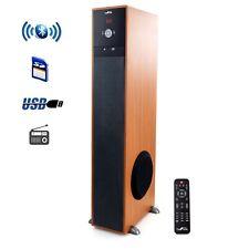 beFree BLUETOOTH WOOD TOWER Subwoofer Home Speaker w/ USB/SD/FM/Karaoke & Remote