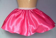 rose pink satin full skirt tutu adult baby sissy cd tv fetish fit 28-40 stretch
