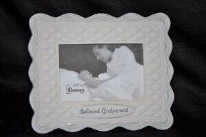 """NIB 3 1/2"""" x 5"""" BELOVED GODPARENT HALLMARK Picture Frame GIFT Keepsake BAPTISM"""