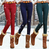 Casual Womens fleece Candy Coloured leggings Skinny Jeans Pencil pants trousers