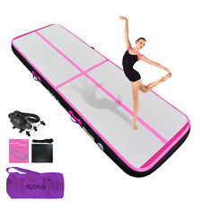 """New listing Inflatable Gymnastics Mat Tumble Gym Track Floor Training 13ft 16ft 20ft 4"""" Pink"""