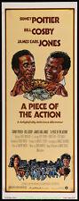 A PIECE OF THE ACTION MOVIE POSTER 14x36 Insert Size SIDNEY POITIER Drew Struzan
