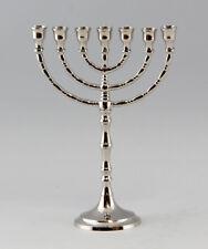 Silberfarbener menora-candelabros niquelados 7-quemador, nuevo 9977007