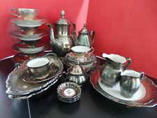 Kaffee/Tee-Service Porzellan FEINSILBER 33 Teile versch.Marken ua.Hutschreuther