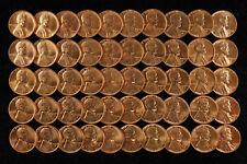1958 D LINCOLN WHEAT CENT PENNY 1C GEM BU BRILLIANT UNCIRC FULL ROLL 50 COINS
