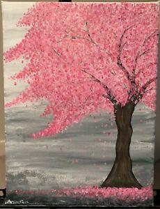 Cherry blossom painting acrylic