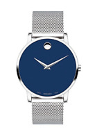 Movado Museum Classic 0607349 Men's Swiss Blue Dial Slim Watch