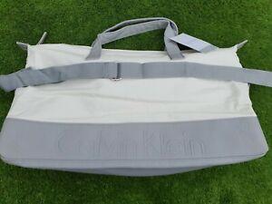 Calvin Klein White Grey Holdall Sports Gym Travel Weekend Bag CK free post