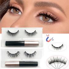 Magnetic False Eyelashes Natural Lashes Extension Liquid Eyeliner Kit Reusable
