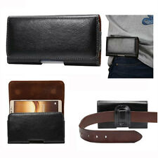 Universal Leather Horizontal Wallet Belt Pouch Cover For Various Phones PDA IPOD