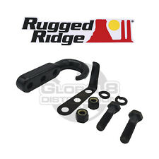 Rugged Ridge Black Steel Tow Hook for 1942-2002 Jeep CJ Wrangler YJ TJ
