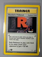 NM-M Rocket's Hideout 1st Edition Neo Revelation Uncommon 63/64 Pokemon