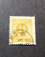 Sweden  Stamp Scott#  34a  Numeral Value 1883  L99
