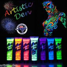 15ml - UV Face Paint Body Paint Black Light Fluoro Party Glow in Dark Neon