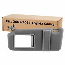 New Grey Sun Visor Left Driver for 2007-2011 Toyota Camry Without Vanity Light