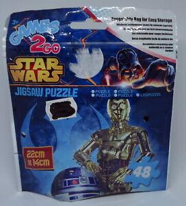 R2-D2 & C-3PO Star Wars Puzzle - Sambro Games2Go - 22x14cm in Polybag NEU