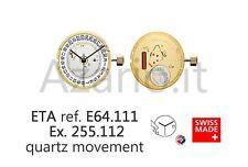 Movimento al quarzo ETA 255.112 H3 movement quartz E64.111 Swiss Made