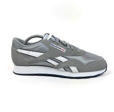 Reebok CL Nylon Classic Platinum Jet Blue Mens 10.5 Shoes Sneakers 36088