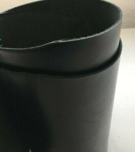 Vegetable tanned, full grain satin black leather 107 cm x  35 cm x 2.2 mm
