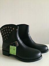 DIESEL Black PVC Rain Boots.EUR 40.RRP £105.00.New.