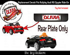 The Toy Restore Custom License Plate Stickers For Rollplay Audi R8 Spyder Car C