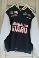 Dale Jr Chase Authentics NASCAR National Guard Amp Energy Jacket Men's Size XL
