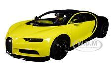 BUGATTI CHIRON JAUNE MOLSHEIM YELLOW & NOCTURNE BLACK 1/18 CAR AUTOART 70994