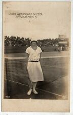 1924 Olympics RPPC VLASTO Silver Tennis France Team Photo Postcard Paris AN Rare