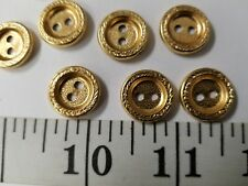 New listing Vintage Buttons Set Of 12 Metal Gold Tuz2717 Last!