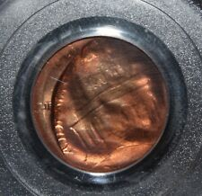 Lincoln Cent Penny Mint Error YUGE RARE 90% Brockage plus Broadstruck PCGS