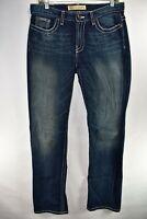 BKE Drew Buckle Bootcut Boot Stretch Womens Jeans Sz 28x33.5 Meas. 32x34