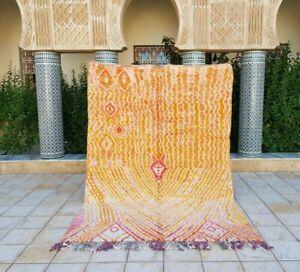 Moroccan rug 9'8x6'8 Ft Berber Beni Ourain Rug Carpet handmade 100%wool, Azilal