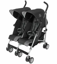 Maclaren 2019 Twin Triumph Double Stroller, Black/Charcoal - NEW in SEALED BOX!