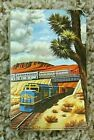 Santa Fe Railroad Playing Cards with Case & Two Plastic Coasters